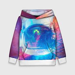 Толстовка-худи детская Космонавт - космос цвета 3D-белый — фото 1