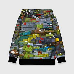 Толстовка-худи детская Геранд шоп-Мир танков цвета 3D-черный — фото 1