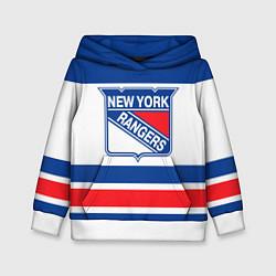 Толстовка-худи детская New York Rangers цвета 3D-белый — фото 1