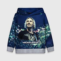 Толстовка-худи детская Nickelback: Chad Kroeger цвета 3D-меланж — фото 1