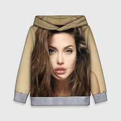 Толстовка-худи детская Анжелина Джоли цвета 3D-меланж — фото 1