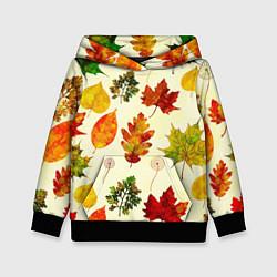 Толстовка-худи детская Осень цвета 3D-черный — фото 1