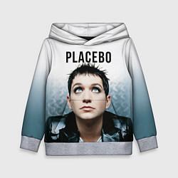 Толстовка-худи детская Placebo: Brian Molko цвета 3D-меланж — фото 1