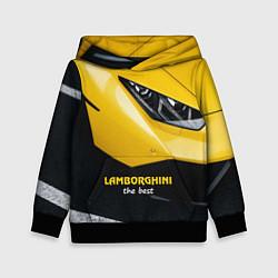 Толстовка-худи детская Lamborghini the best цвета 3D-черный — фото 1