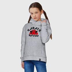 Толстовка оверсайз детская Karate Russia цвета меланж — фото 2