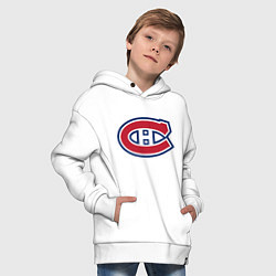 Толстовка оверсайз детская Montreal Canadiens цвета белый — фото 2