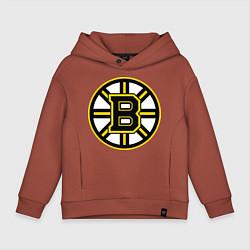 Толстовка оверсайз детская Boston Bruins цвета кирпичный — фото 1