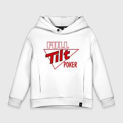 Толстовка оверсайз детская Full Tilt Poker цвета белый — фото 1