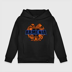 Толстовка оверсайз детская Армения цвета черный — фото 1