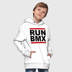 Толстовка оверсайз детская RUN BMX цвета белый — фото 2