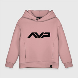 Толстовка оверсайз детская AVP: White Style цвета пыльно-розовый — фото 1