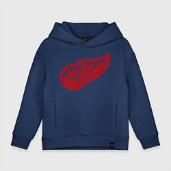 Толстовка оверсайз детская Detroit Red Wings: Pavel Datsyuk цвета тёмно-синий — фото 1