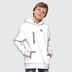 Толстовка оверсайз детская Renault Style цвета белый — фото 2