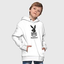 Толстовка оверсайз детская Play Dalnoboy цвета белый — фото 2