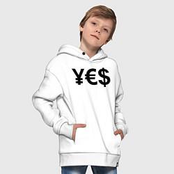 Толстовка оверсайз детская YE$ цвета белый — фото 2