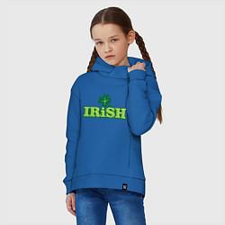Толстовка оверсайз детская Ирландия цвета синий — фото 2