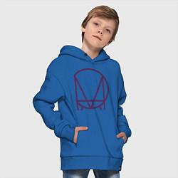 Толстовка оверсайз детская Skrillex Symbol цвета синий — фото 2