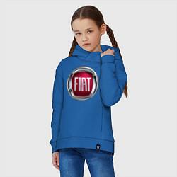 Толстовка оверсайз детская FIAT logo цвета синий — фото 2