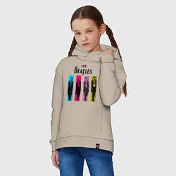 Толстовка оверсайз детская Walking Beatles цвета миндальный — фото 2
