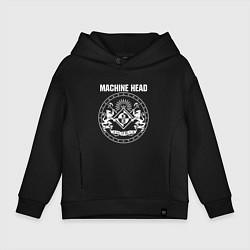 Толстовка оверсайз детская Machine Head MCMXCII цвета черный — фото 1