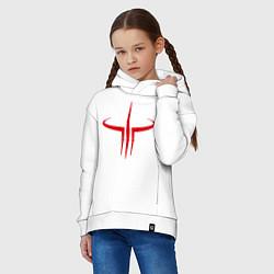 Толстовка оверсайз детская Quake logo цвета белый — фото 2