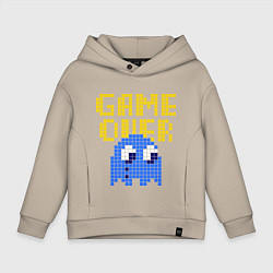 Толстовка оверсайз детская Pac-Man: Game over цвета миндальный — фото 1
