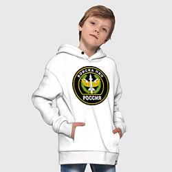 Толстовка оверсайз детская ПВО цвета белый — фото 2