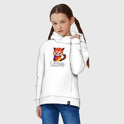 Толстовка оверсайз детская Likee LIKE Video цвета белый — фото 2