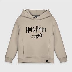 Толстовка оверсайз детская Гарри Поттер цвета миндальный — фото 1