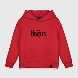 Толстовка оверсайз детская The Beatles цвета красный — фото 1