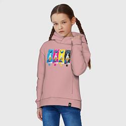 Толстовка оверсайз детская Donald Player цвета пыльно-розовый — фото 2