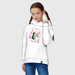 Толстовка оверсайз детская Be True to You цвета белый — фото 2