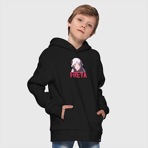 Детское худи оверсайз Freya / Черный – фото 4
