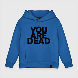Толстовка оверсайз детская DayZ: You are Dead цвета синий — фото 1