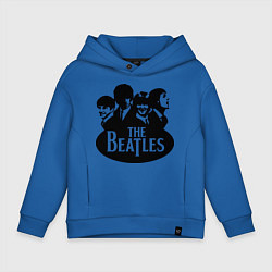 Толстовка оверсайз детская The Beatles Band цвета синий — фото 1