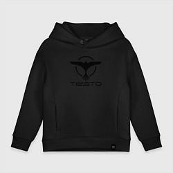 Толстовка оверсайз детская Tiesto цвета черный — фото 1