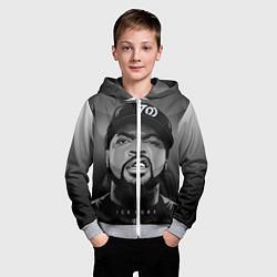 Толстовка на молнии детская Ice Cube: Gangsta цвета 3D-меланж — фото 2