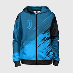 Толстовка на молнии детская FC Juventus: Blue Original цвета 3D-черный — фото 1