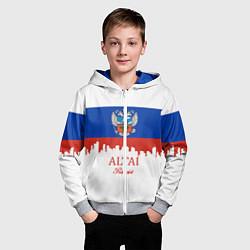 Толстовка на молнии детская Altai: Russia цвета 3D-меланж — фото 2
