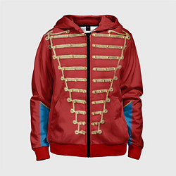 Толстовка на молнии детская Пиджак Майкла Джексона цвета 3D-красный — фото 1