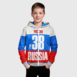 Толстовка на молнии детская Russia: from 38 цвета 3D-меланж — фото 2