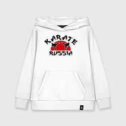 Толстовка детская хлопковая Karate Russia цвета белый — фото 1