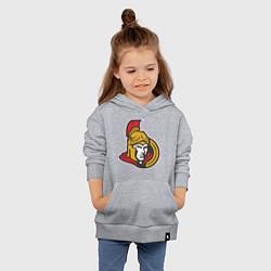 Толстовка детская хлопковая Ottawa Senators цвета меланж — фото 2
