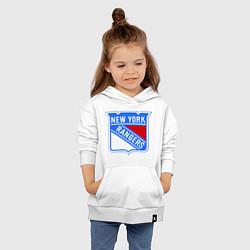 Толстовка детская хлопковая New York Rangers цвета белый — фото 2
