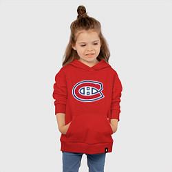 Толстовка детская хлопковая Montreal Canadiens цвета красный — фото 2
