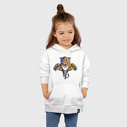 Толстовка детская хлопковая Florida Panthers цвета белый — фото 2