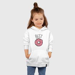 Толстовка детская хлопковая Best friends цвета белый — фото 2