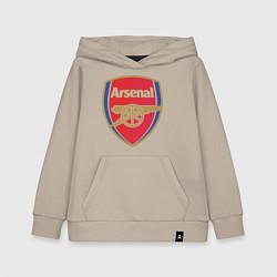 Толстовка детская хлопковая Arsenal FC цвета миндальный — фото 1