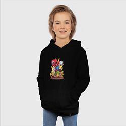 Толстовка детская хлопковая Mario Rage цвета черный — фото 2