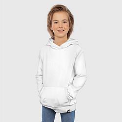 Толстовка детская хлопковая Холост, щедр, богат цвета белый — фото 2